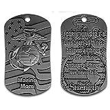 Marine Mom Dog Tag Necklace