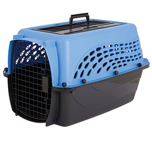 "Petmate Jackson Galaxy 2 Door Top Load Kennel, 24"", Blue Gli"