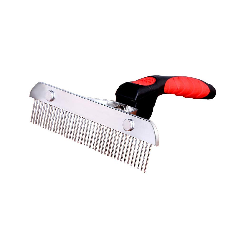 JIGAN Dog Comb, Stainless Steel Deshedding and Dematting Undercoat Rake, for Dogs, Cats and Rabbits, Reduces Shedding, Removes Tangles