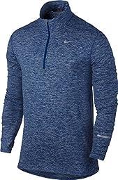 Nike Men\'s Dri-Fit Element Half Zip - X-Large - Deep Royal Blue/Heather/Deep Royal Blue
