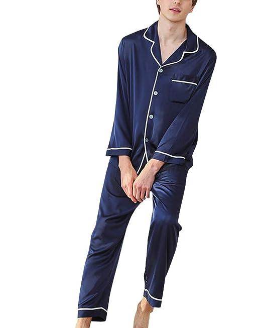 Servicio a Domicilio 2 Piezas Pijamas Hombre Mangas Largas y ...