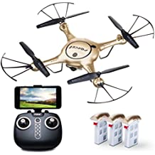 Force1 X5UW Drones with Live Camera Feed Altitude Hold 1-Key Control Headless 360 Flips LED Beginners Quadcopter