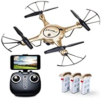 Drone with Camera Live Video - Force1 X5UW WiFi FPV Drone with Camera – Remote Control RC Camera Drones for Beginners, Kids and Adults