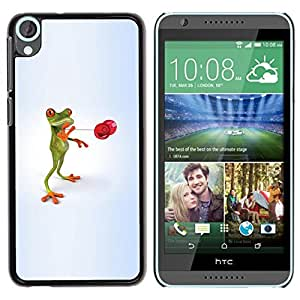 Be Good Phone Accessory // Dura Cáscara cubierta Protectora Caso Carcasa Funda de Protección para HTC Desire 820 // Kids Toy Skill Frog Play Playing Minimalist