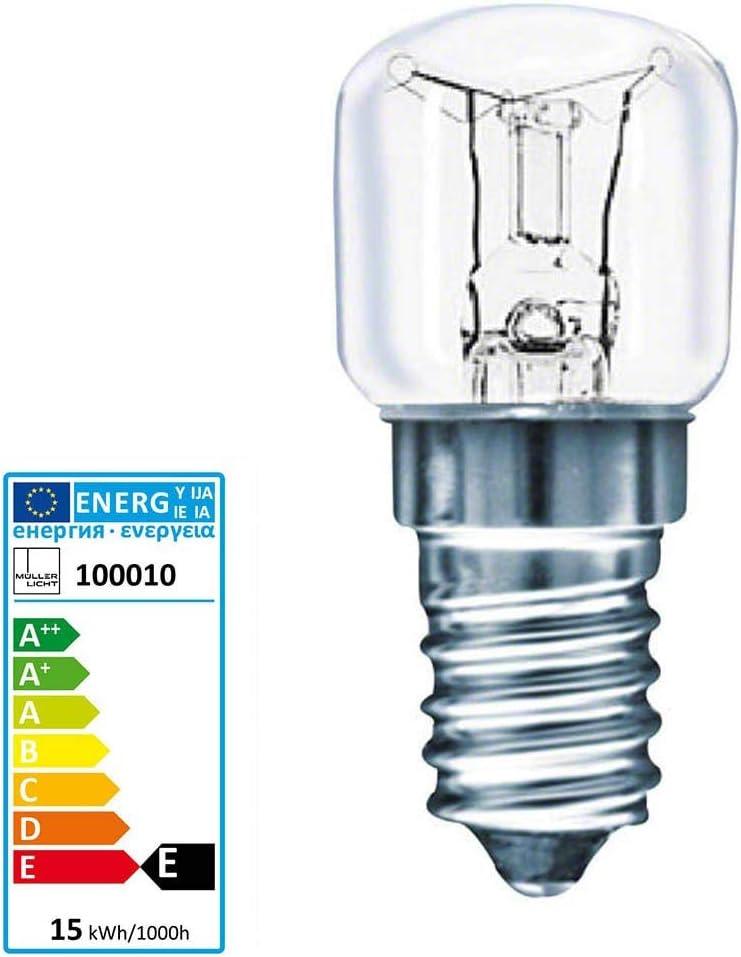 15//25w Ofenlampe Backofen Lampe E14 Klar Herd Glühbirne 220-240V 300° Küche Neu