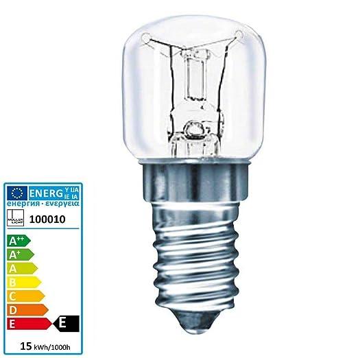 Müller luz horno bombilla 300 grda centígrados E14 230 V 15 Watt ...