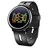 Fitness Tracker - LEKANG Color Activity Tracker - Heart Rate Monitor - Waterproof Walking Calorie Bracelet Compatible with Android iOS Smartphone (Black)