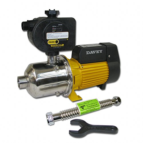 Davey Water Products BT20-30T2-USA Home Pressure Booster Pump with Torrium II Controller (Booster Pump For Shower With Low Pressure)