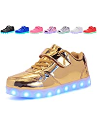Kids LED Light up Shoes Shiny Low-Top Sneakers for Boys and Girls Child  Unisex a5b268220e