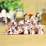 HOUSES Cat Animal Miniature Fairy Garden Decoration Mini Craft Micro Landscaping Accessories Pink