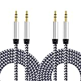 Best Stereo Audio For IPhone IPads - Aux Cable, CableLovers 2 Pack 5FT Nylon Braided Review