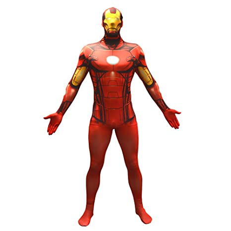 Morphsuits Traje Oficial de Disfraces básico de Capitán América tamaño Mediano - 5