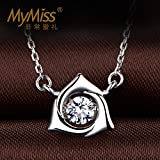 Generic Dual_11_official_authentic_Mymiss_operation_for_ love _mosaic_cut_zircon_ Silver necklace Pendant women girl short _paragraph_ clavicle _120