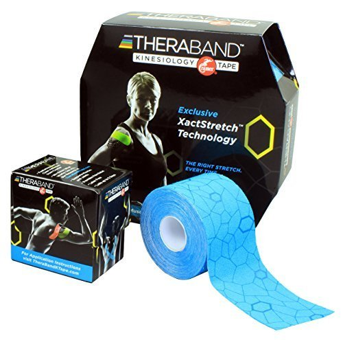 Theraband Kinesiology Tape Bulk Roll with Print, Blue, 2 X 103.3 Inch by Theraband