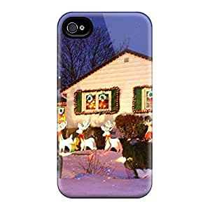 Hot Style UwrsUJe2137xsCJI Protective Case Cover For Iphone4/4s(christmas At Home)
