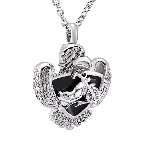 motorcycle urn necklace - 3