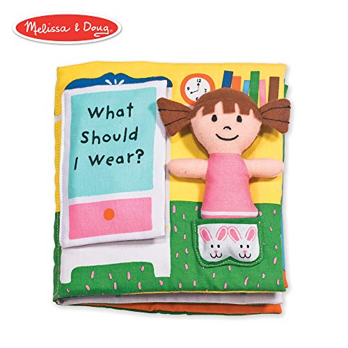 Melissa & Doug Soft Activity Book - What Should I Wear? (Developmental Toy, Machine Washable)