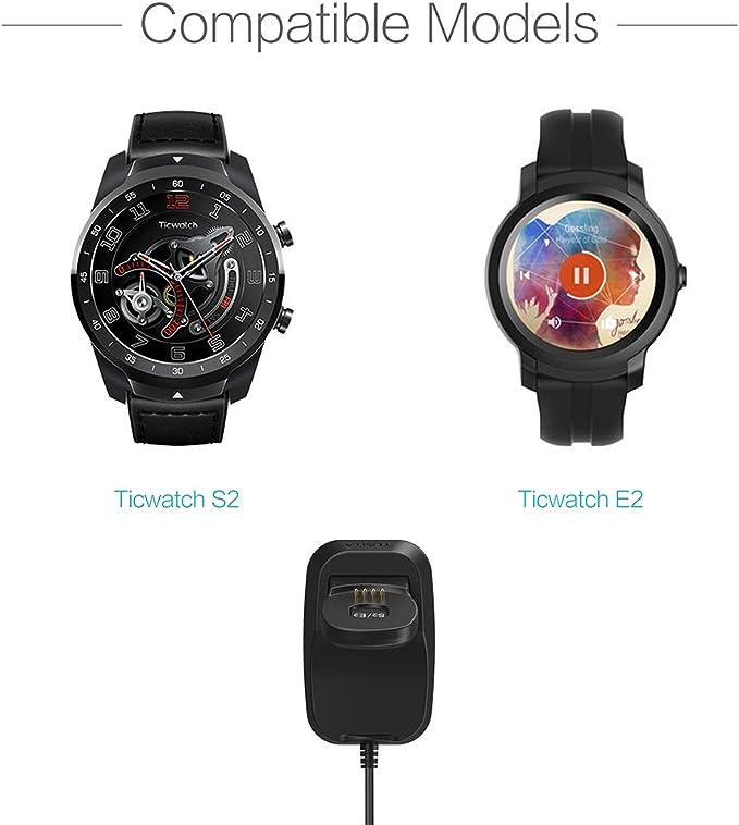 TUSITA Cargador para Ticwatch E2 S2: Amazon.es: Electrónica