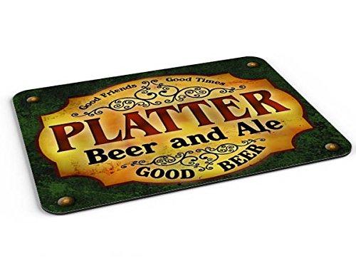 Platter Beer & Ale Mousepad/Desk Valet/Coffee Station Mat