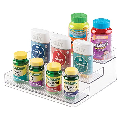 Storage Organizer for Vitamins, Supplements, Health Supplies - 3 Tier