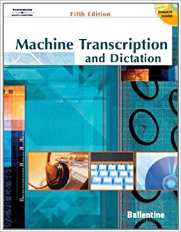 Machine Transcription & Dictation (with CD-ROM) by Mitsy Ballentine (2004-07-09)
