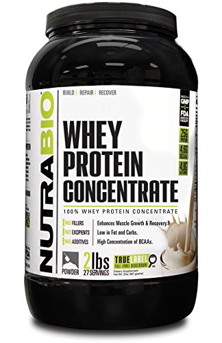 NutraBio Protein Concentrate WPC80 Unflavored