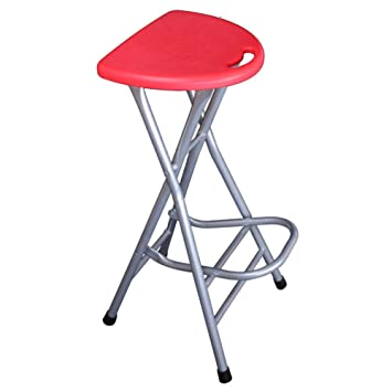 Tremendous Bexn Folding Barstools 28 Inch High Stool Without Backs Plastic Pub Chair Counter Bar Stool Chair For Bar Home Red H72Xw31Cm 28X12Inch Ibusinesslaw Wood Chair Design Ideas Ibusinesslaworg