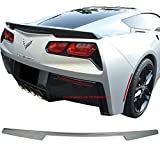 Pre-painted Trunk Spoiler Fits 2014-2018 Chevy Corvette | OE Factory Style ABS Painted Switchblade Silver Metallic #WA636R Boot Lip Wing Deck Lid Other Color Available By IKON MOTORSPORTS | 2015 2016