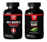 Product review for weight loss - ANTI WRINKLE NATURAL FORMULA – GRAY HAIR SOLUTION - grape seed nutrition - 2 Bottles Combo (60 Capsules + 60 Capsules)