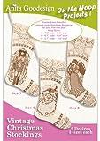 Anita Goodesign Embroidery Designs CD PJ's In the Hoop Vintage Christmas Stockings