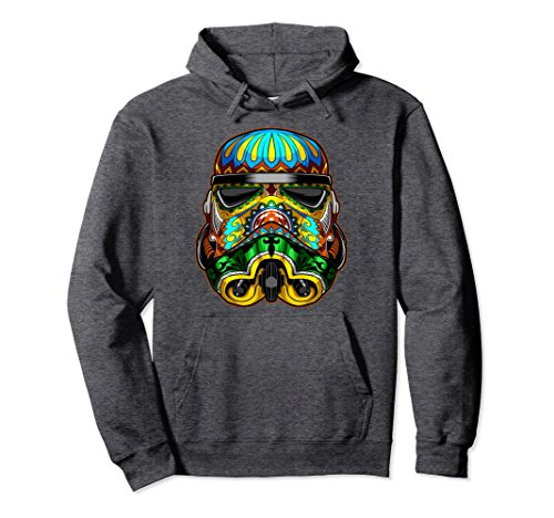 Unisex Star Wars Stormtrooper Ornate Sugar Skull Graphic Hoodie Medium Dark (Trooper Sweatshirt)