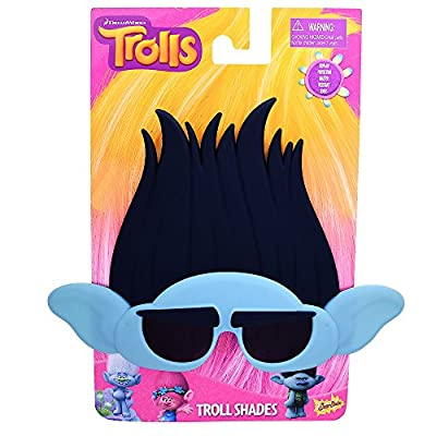 Costume Sunglasses Trolls Branch Sun-Staches Party Favors UV400: Toys & Games