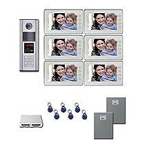 Multitenant Video Intercom Six 7 inch color monitor door panel kit