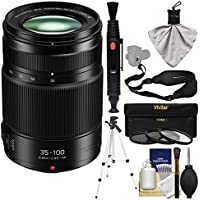 Panasonic Lumix G X Vario 35-100mm f/2.8 II ASPH Power OIS Zoom Lens with 3 UV/CPL/ND8 Filters + Tripod + Sling Strap + Cleaning Kit
