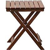 B&Z KD-40N Adirondack Square Portable Wooden Folding Side Table Outdoor Oak