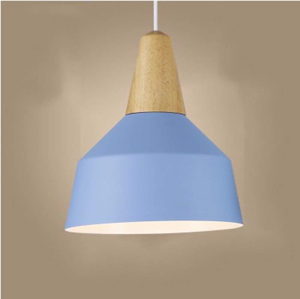 AJ Kreative Haushaltsbeleuchtung Schlafzimmer Wohnzimmer Persönlichkeit Lampen und Kronleuchter Nordic Massivholz Aluminium Frigobar Farbe Geschäfte Holz Hellblau 26  30 cm