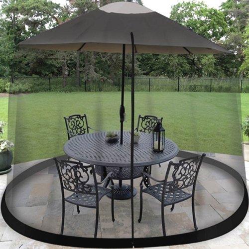 9 FT. UMBRELLA TABLE SCREEN BLACK Height Umbrella Table Mesh Top
