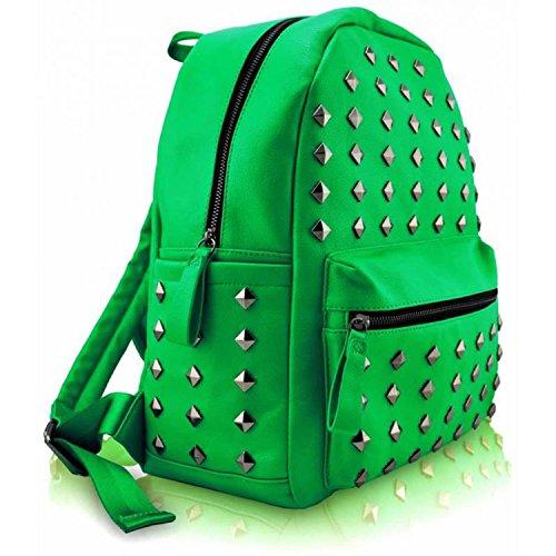 moyen Xardi dos à porté femme au London Studded Green Sac main pour zYqxZwzrIE