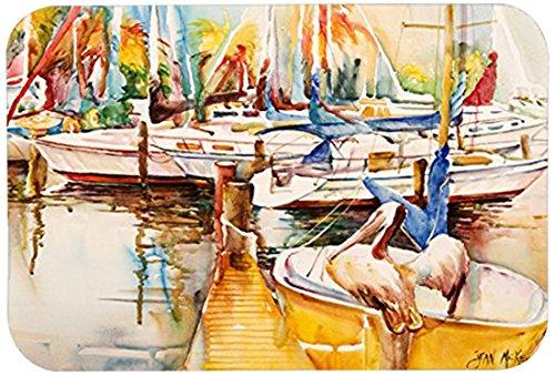 Caroline's Treasures JMK1042JCMT'Sailboat with Pelican Golden Days' Kitchen or Bath Mat, 24' by 36', Multicolor