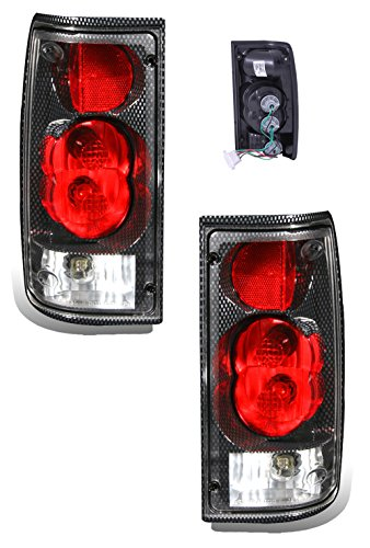 SPPC Carbon Euro Tail Lights Assembly Set For Toyota Pickup - (Pair) Driver Left and Passenger Right Side Replacement
