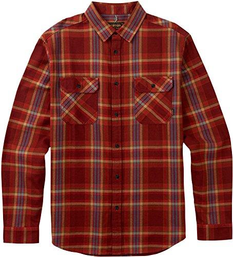 Burton Men's Brighton Flannel Down Shirt, Fired Brick Balsam