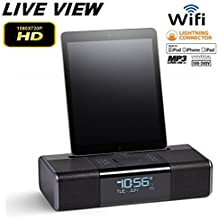 Day-Video Ihome Docking Station Hidden Camera HD-High Definition 1920x1080P DVR with WiFi Live Viewing from PC and Smart Phones