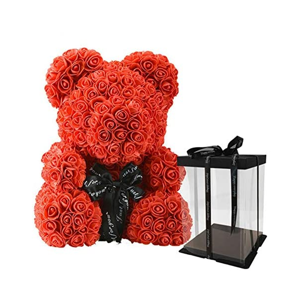 Rose Bear Teddy Bear Cub Forever Artificial Rose Anniversary Christmas Valentine