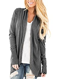 Womens Casual Soft Sweater Knitwear Open Front Kimono Cardigan Pullover Blouses