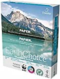 """Domtar Earth Choice Office Paper, Copy Fax Laser & Inkjet Printer, 92 Bright White, ColorLok, Acid Free, Ream,8.5"""" L x 11"""" H, 20 lb, 500 Total Sheets"""