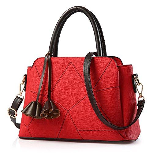 De Coreanas All del Rojo Mujeres Bright Brillante Diagonal Bolsas Match red Meoaeo Cruz Hombro Color 5Swz4FFx