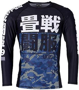Tatami Adulto Azul Camuflaje Manga Larga Camiseta de Neopreno: Amazon.es: Deportes y aire libre