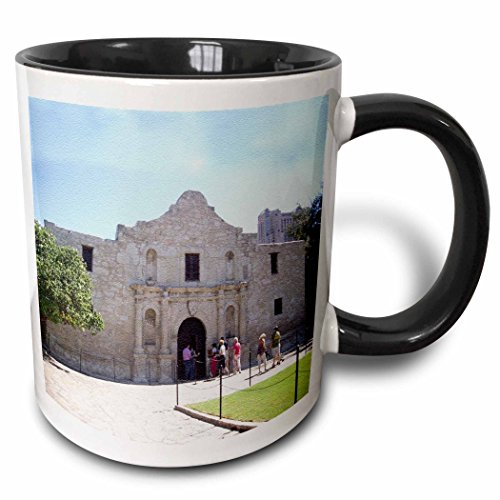 3D Rose 184386_4 Alamo Mission in San Antonio, Texas, Textured Photo Two Tone Ceramic Mug, 11 oz, - Alamo San Pictures Texas The Antonio Of In
