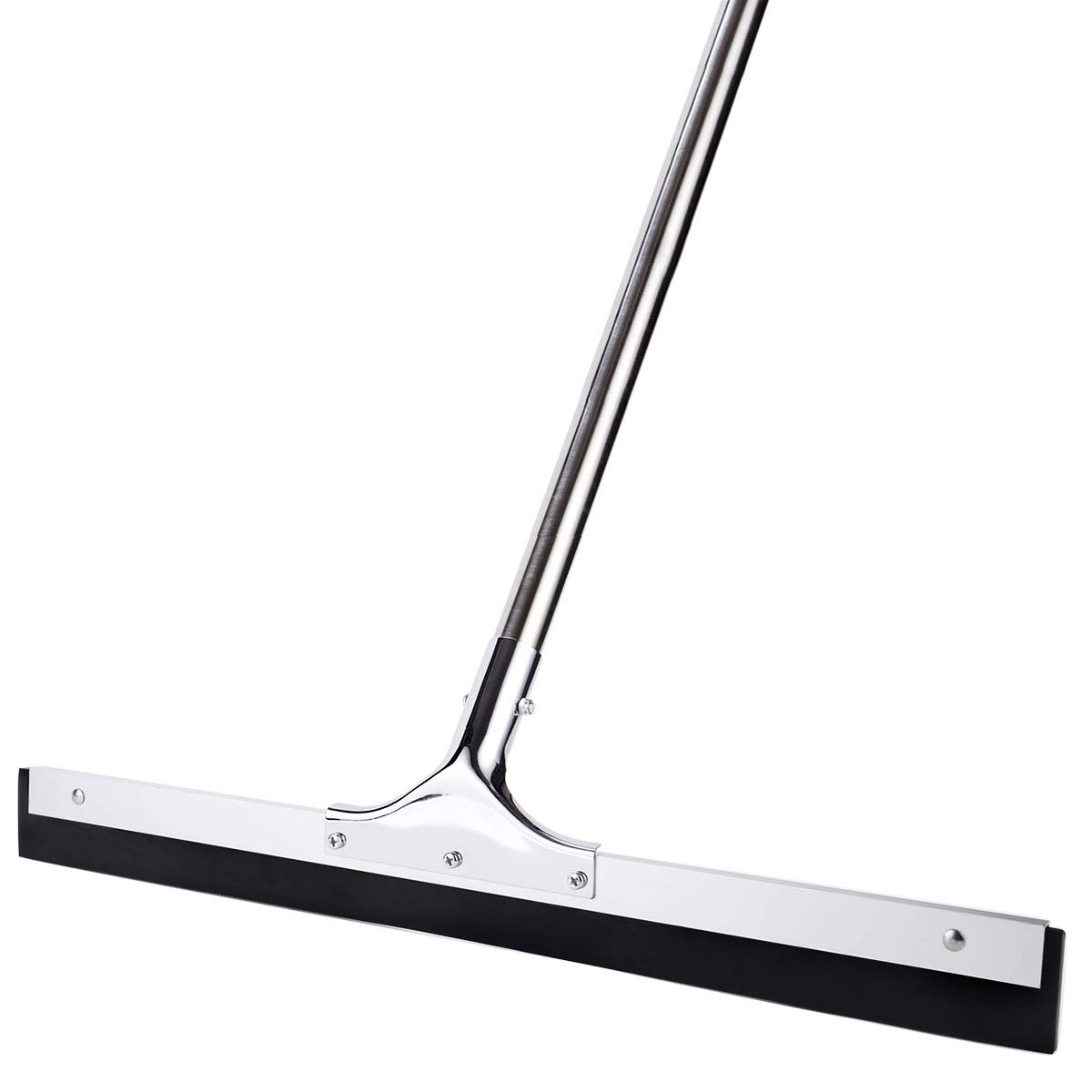YCUTE Commercial Heavy Duty Floor Squeegee with 22'' Rubber Blade- 52.9'' Stainless Steel Long Handle Best for Moving Fluid Flat Concrete Tile Glass Marble and Wood Surfaces