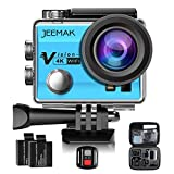 Photo : JEEMAK 4K Action Cam 16MP WiFi Waterproof Sports Camera 170° Ultra Wide Angle Len with SONY Sensor,Remote Control 2 Pcs Rechargeable Batteries and Portable Package Blue